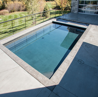 Pool covers reduce water evaporation