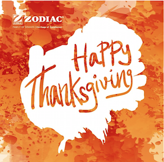 Happy Thanksgiving from Zodiac